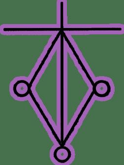Символ Кармического Канала Символ Харт